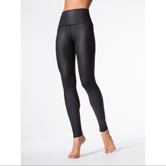 ca2869a57e ALO Yoga Pants   Alo High Waist Airbrush Legging Black Glossy Small ...